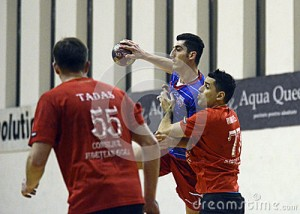 novica-rudovic-handball-players-pictured-action-romanian-league-game-csa-steaua-bucharest-cs-lignitul-50777604