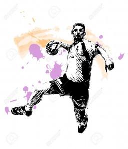 33466320-Ilustraci-n-de-jugador-de-balonmano--Foto-de-archivo