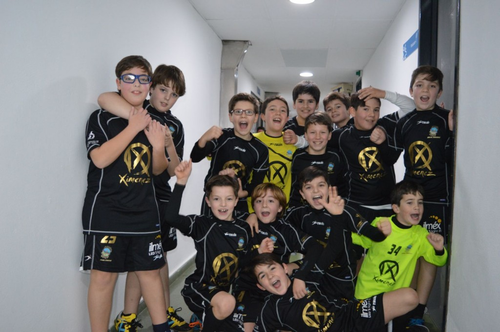 Celebrando su primera victoria contra BM LUCENA 31/01/2016